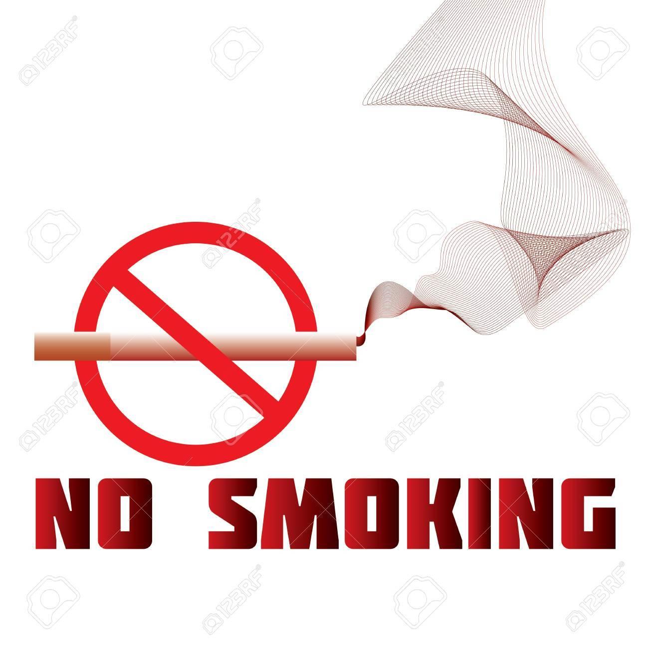 illustration of a no-smoking sign, warning, prohibition Stock Vector - 13774683