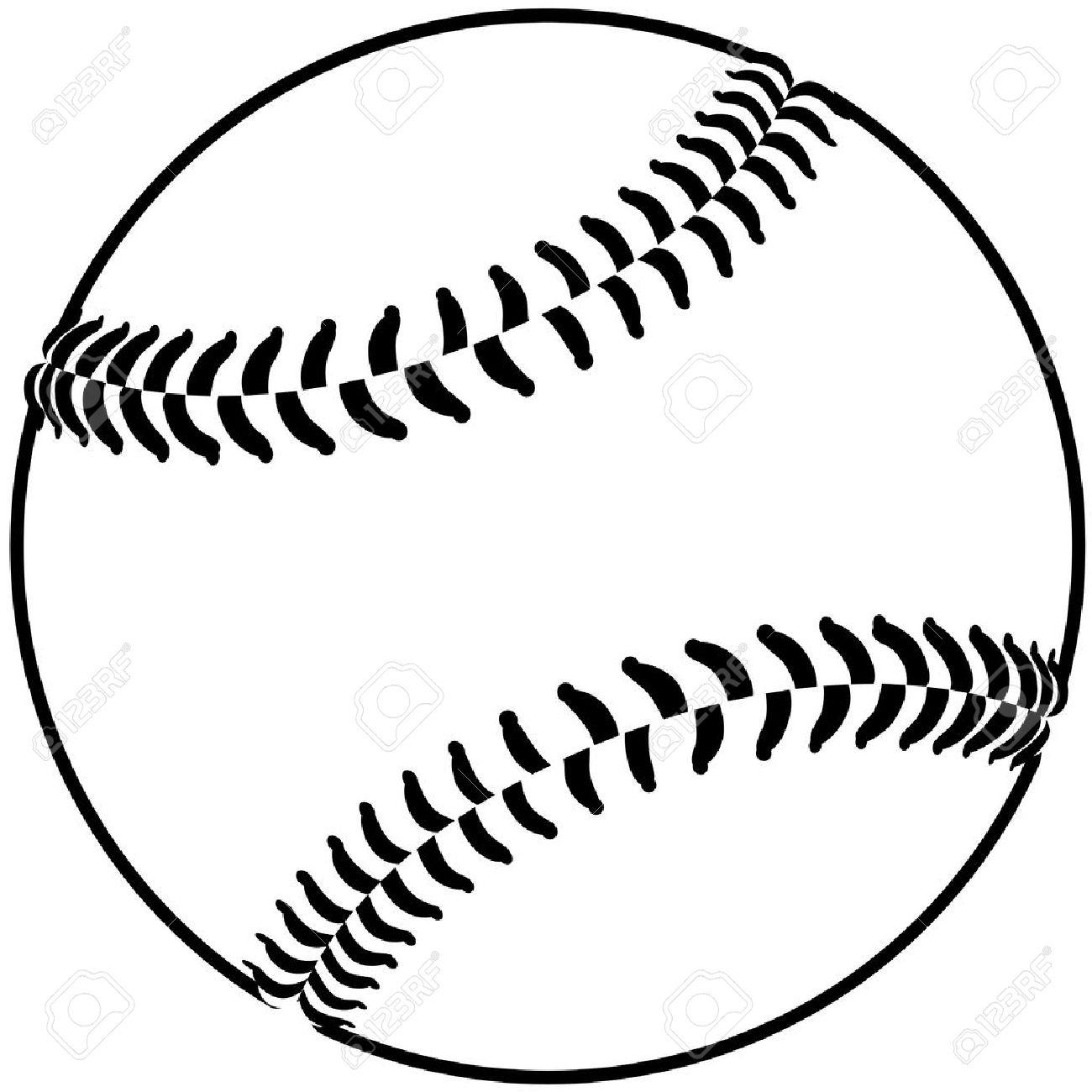 Yellow Softball Image Softball Image of a Baseball