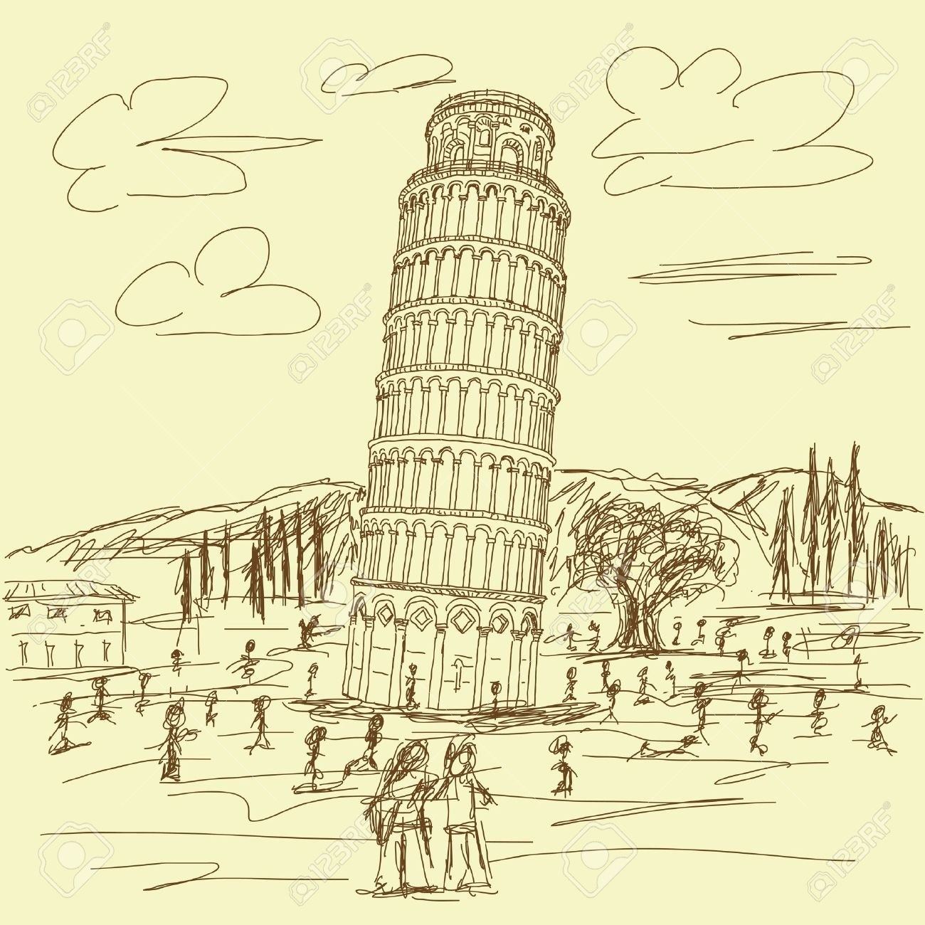leaning tower of pisa coloring page coloring pages tiger tigers