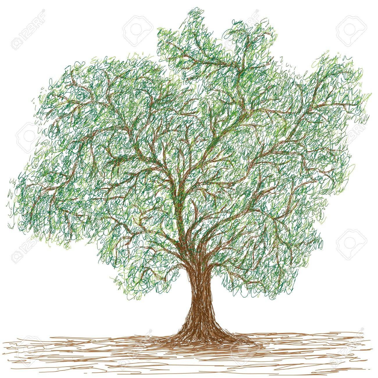 illustration of huge single tree isolated Stock Vector - 16842118