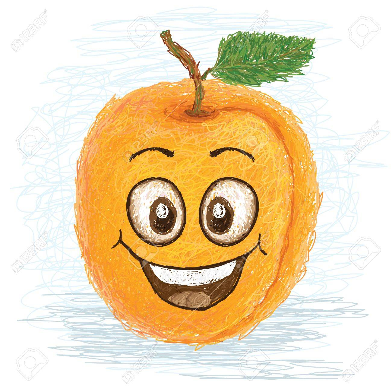 happy yellow apricot fruit cartoon character smiling