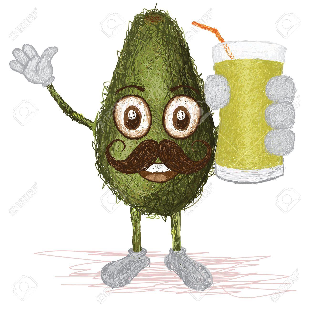 Green Juice Cartoon Happy Cartoon Green