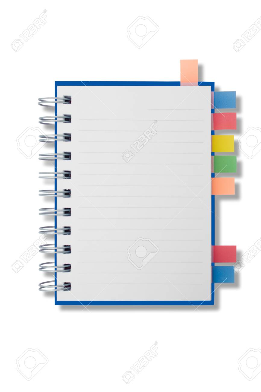 Blank page notebook and tag for separate Stock Photo - 9359646