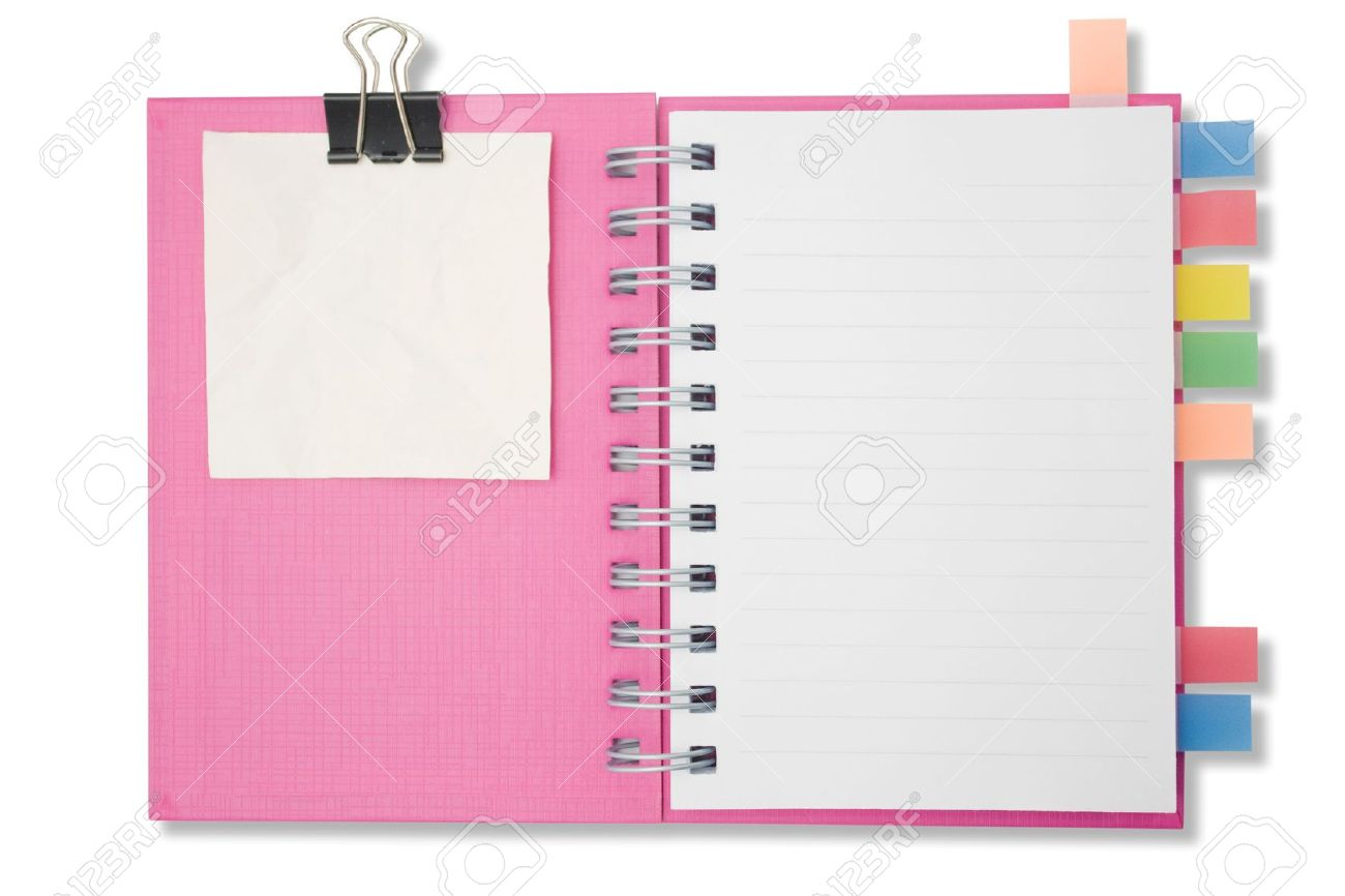 Blank page notebook and tag for separate2 Stock Photo - 9359810