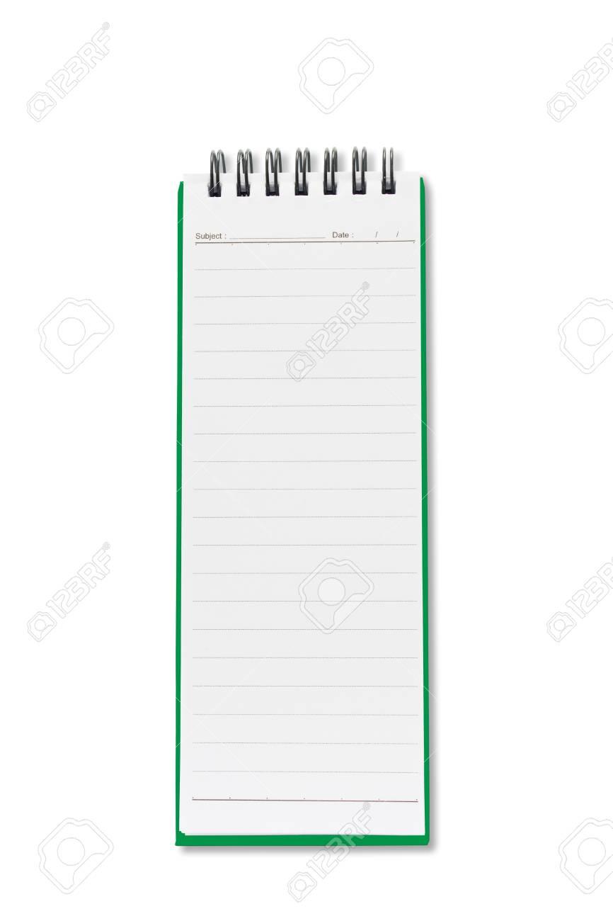 Mini blank page long shape notebook Stock Photo - 9429043