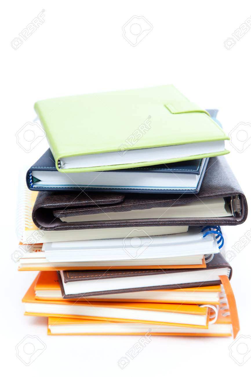 Book stack on white isolated Stock Photo - 14512601