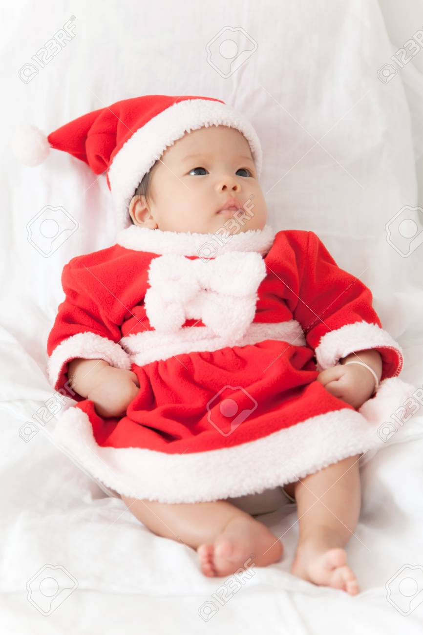 Little girl with santa costume Stock Photo - 16906203