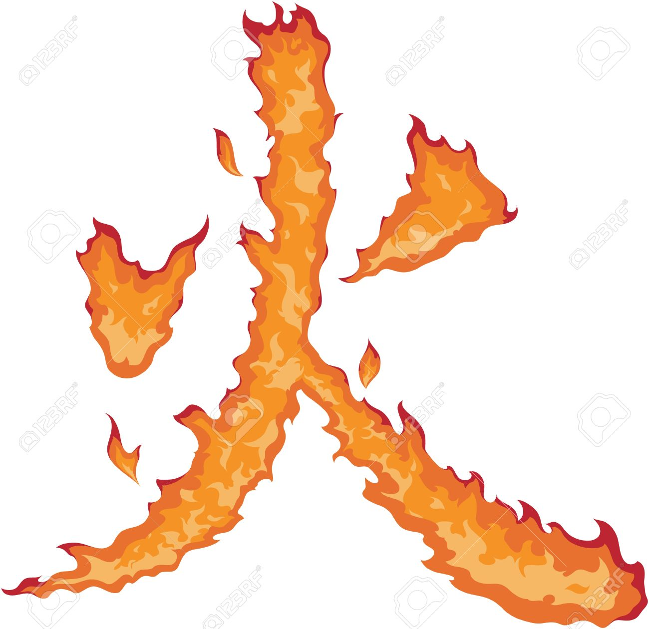 Feuer Auf Japanisch der japanische kanji zeichen für feuer das symbol selbst ist