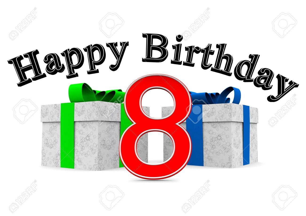Gran Feliz Cumpleaños Letras De Color Negro Con Un Gran Número Rojo ...