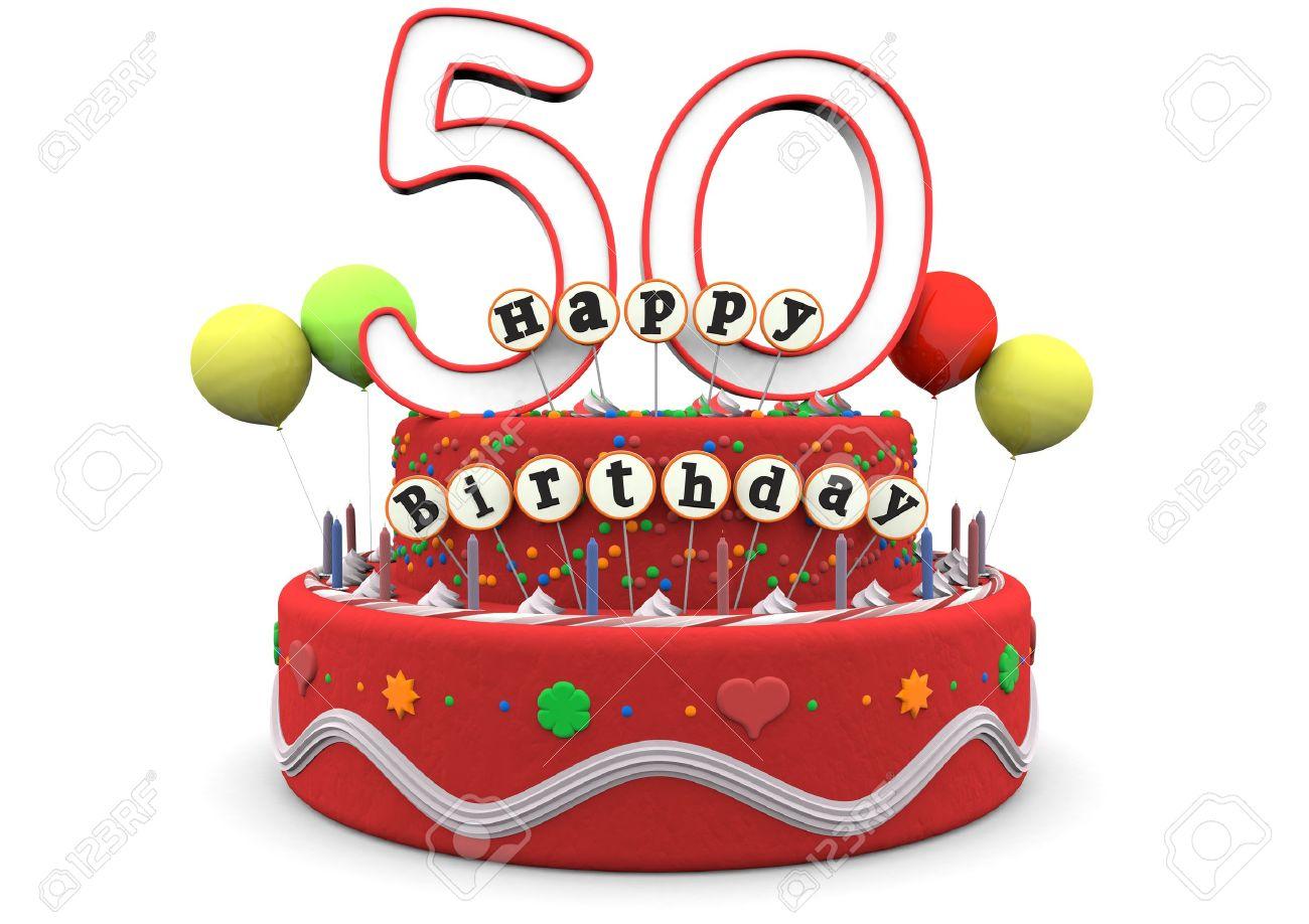 Ein Geburtstagskuchen Mit Sahne Luftballons Große Alters Der Nummer