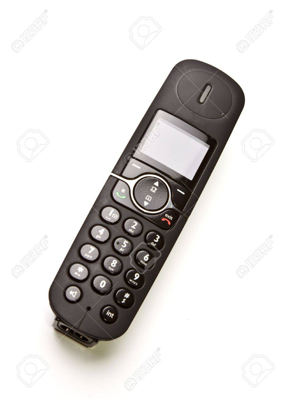Modern Cordless Telephone Stock Photo, Picture And Royalty Free ...