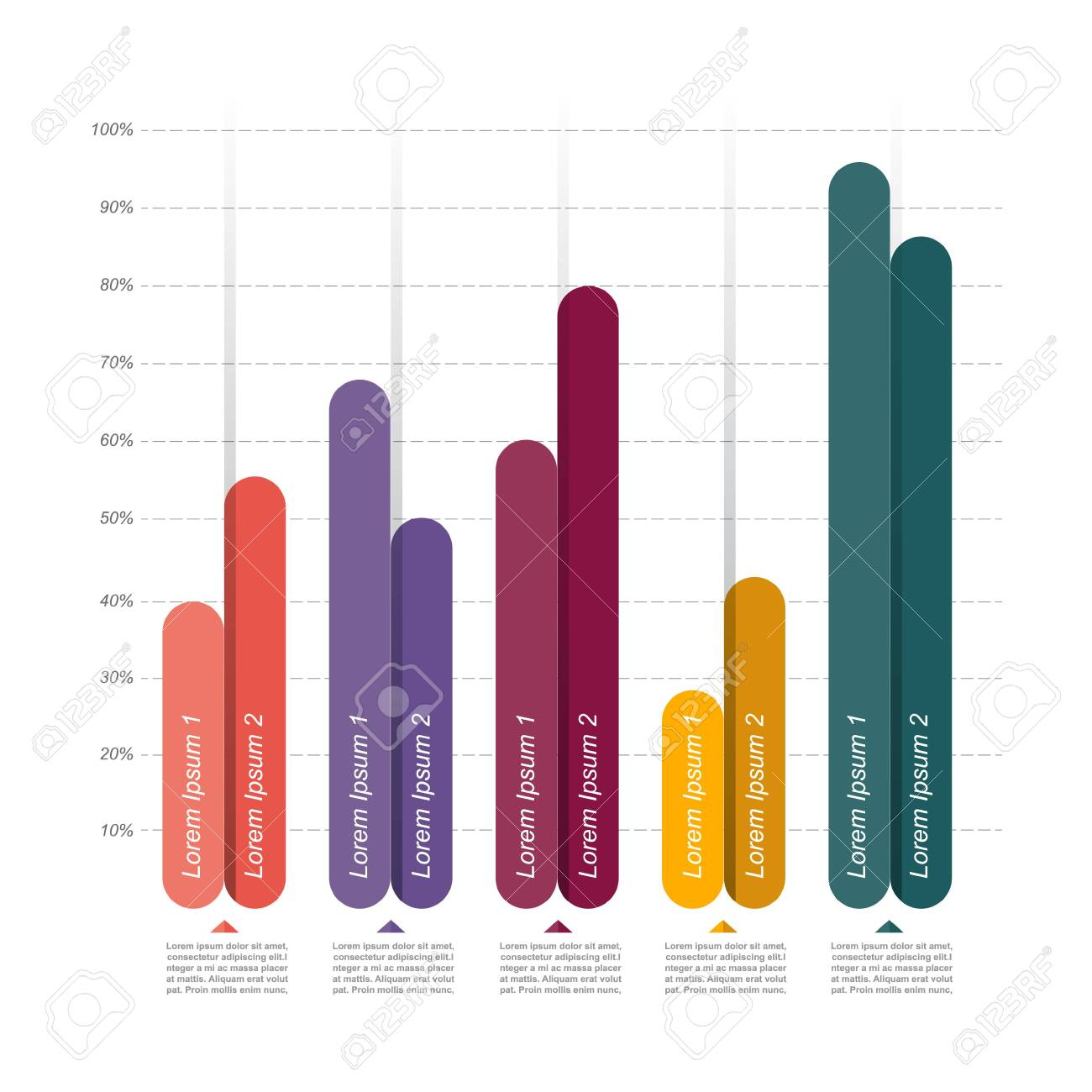 Bar Chart Graph Diagram Statistical Business Infographic Illustration - 148755104
