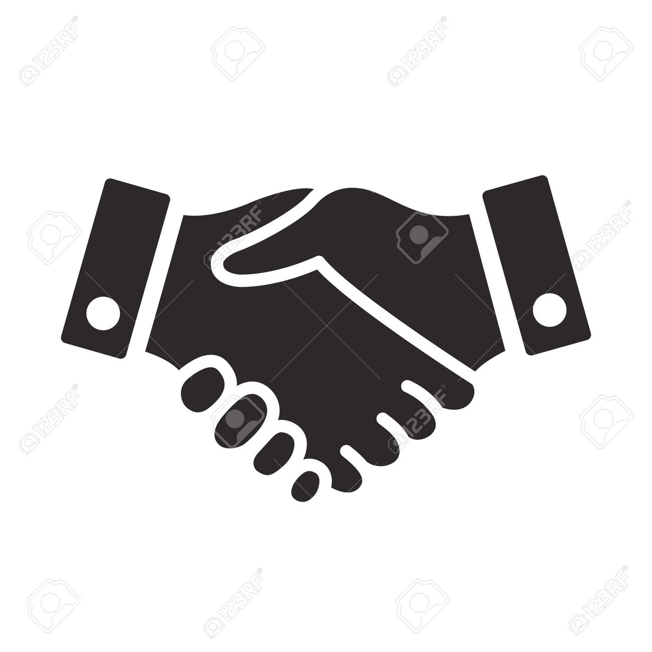 handshake icon vector design illustration - 169839420