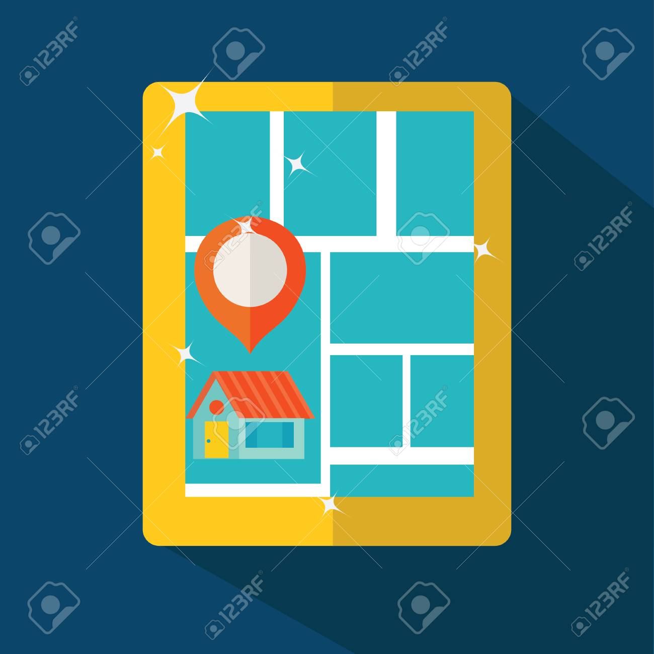 Touch screen tablet PC gps Stock Vector - 27450795