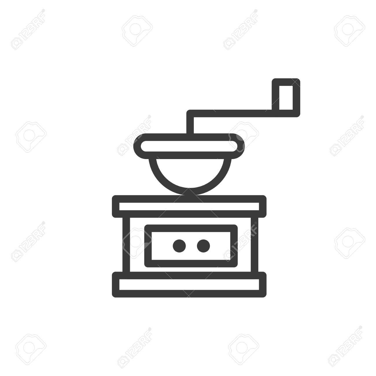 Conception De Ligne Cafe Icones Pour Les Menus Restaurant