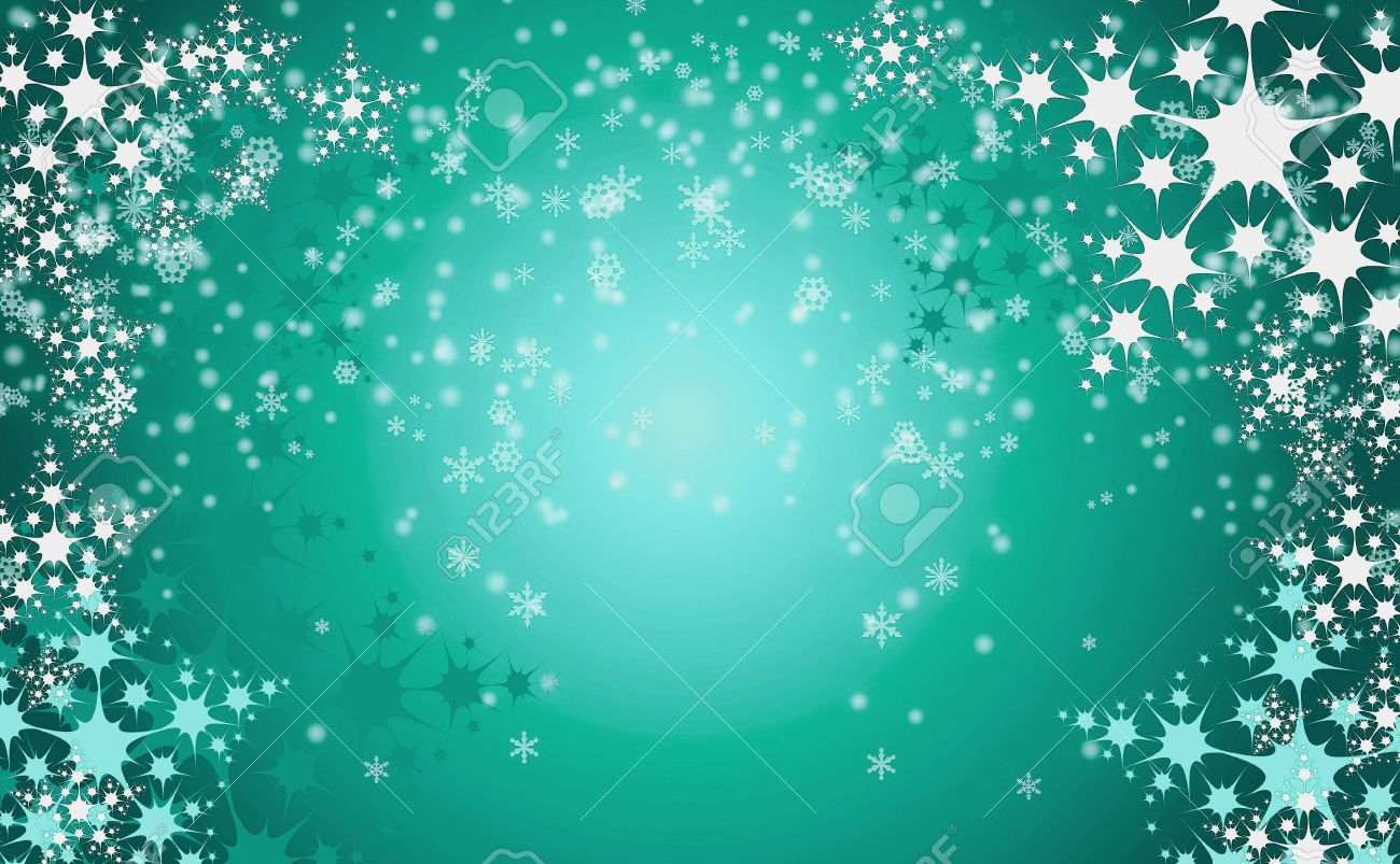 Very Nice Christmas Background With Snow Flakes Stock Photo, Picture ...