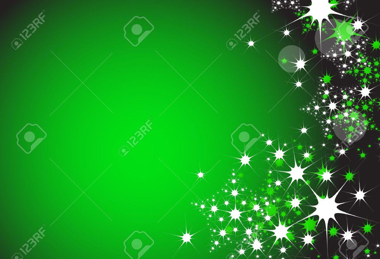 nieve de la navidad de fondo escamas en el color verde foto de archivo