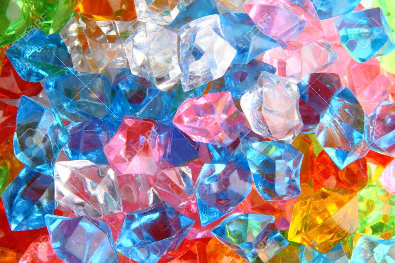 color plastic gems as nice luxury background Stock Photo - 12320105