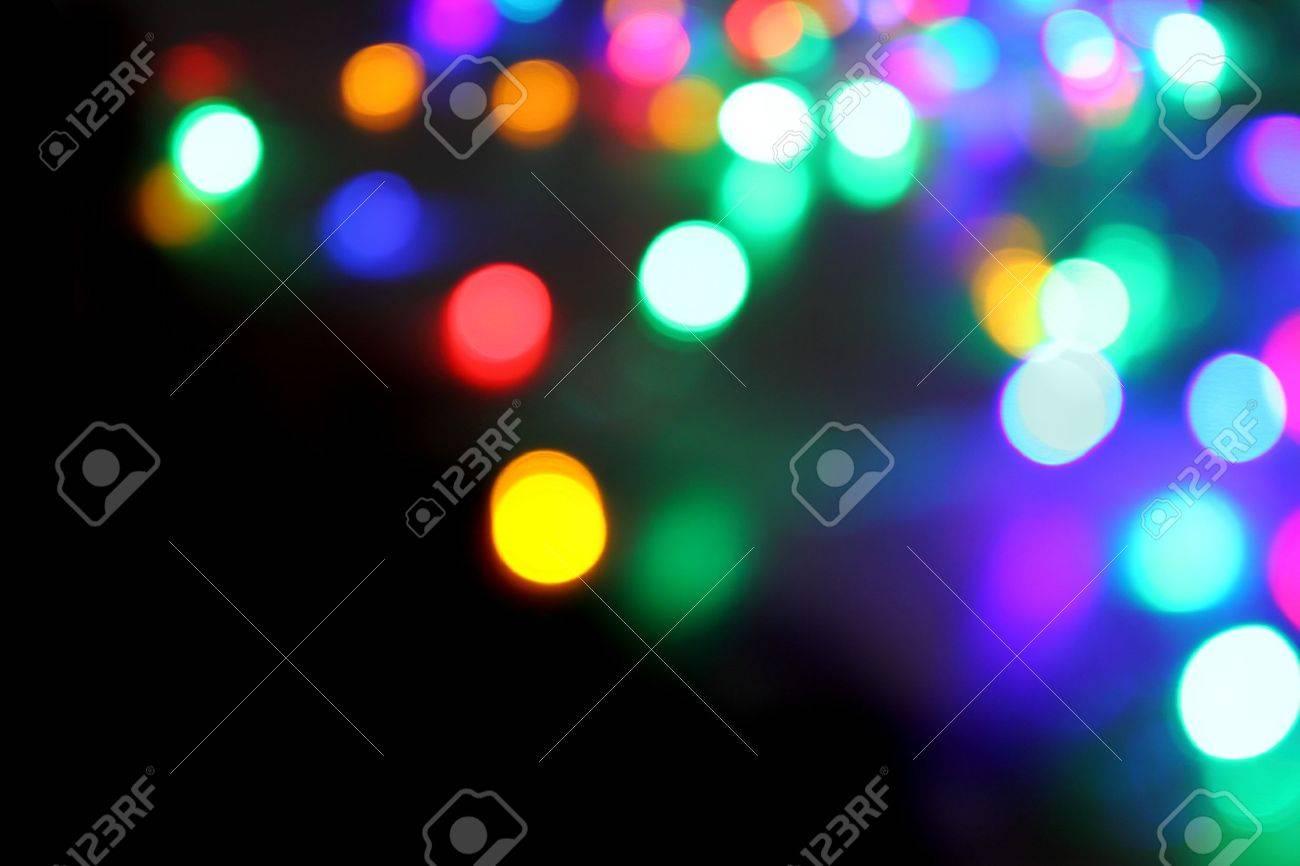 Luces De Navidad Como Fondo Agradable Día De Fiesta De Color Fotos ...