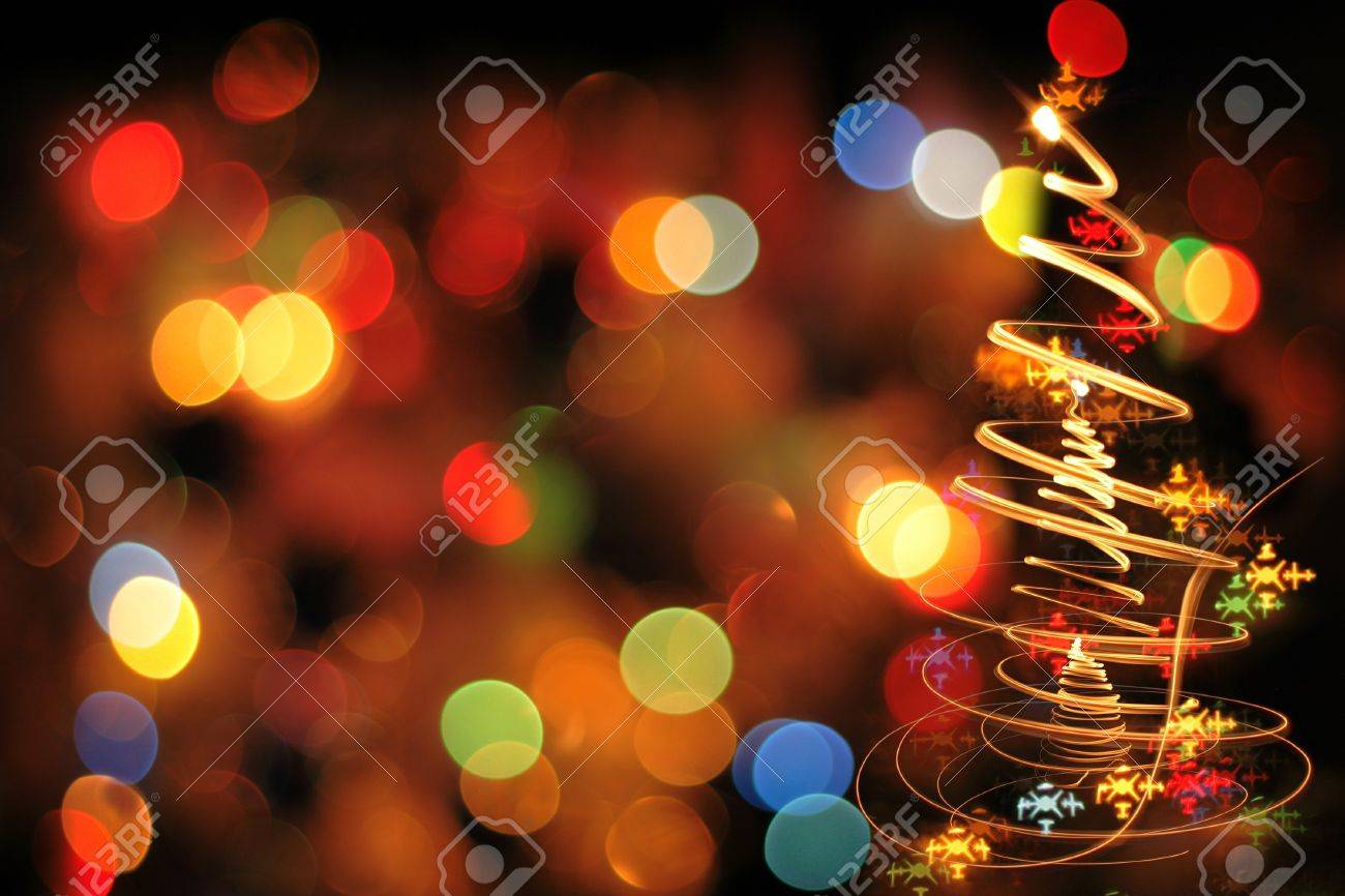 Image En Couleur De Noel.Arbre De Noel Des Lumieres De Noel De Couleur Comme Arriere Plan De Belles Vacances