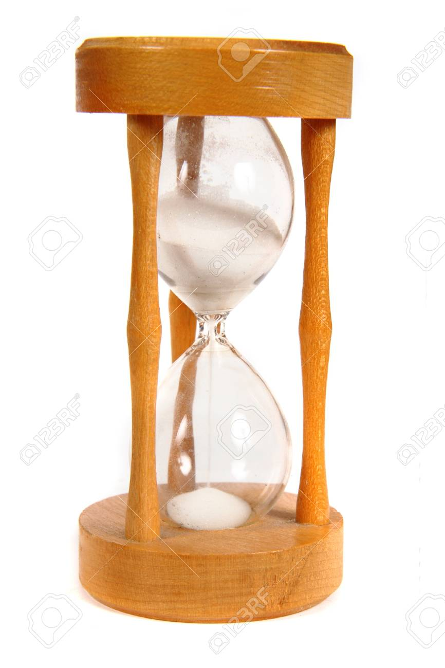 wooden hourglass isolated on the white background Stock Photo - 18078248