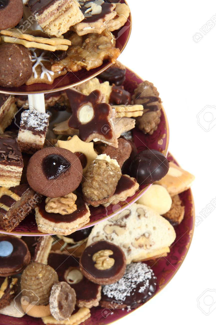 Traditional Christmas Desserts.Traditional Christmas Desserts And Cookies From Czech Republic