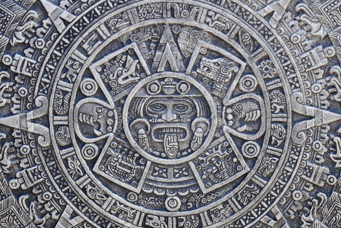 Aztec history texture as nice stone background stock photo