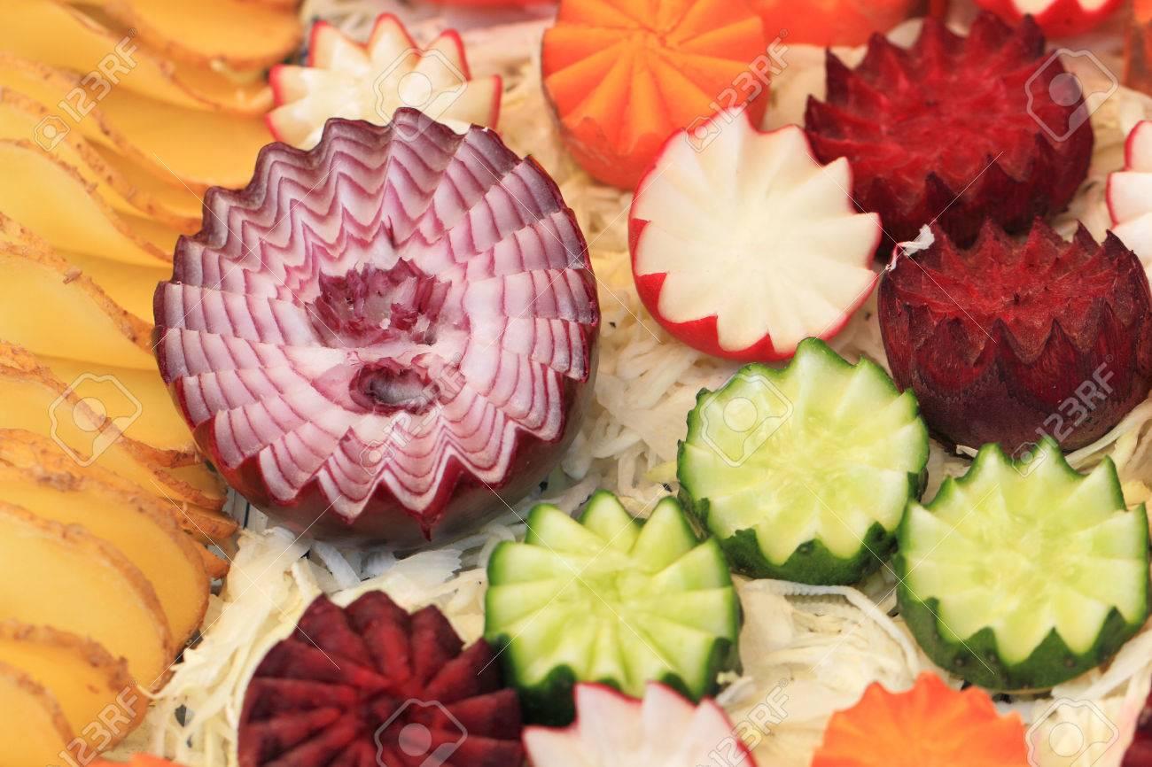 Gemuse Dekoration Von Gurken Karotten Und Andere Lizenzfreie Fotos