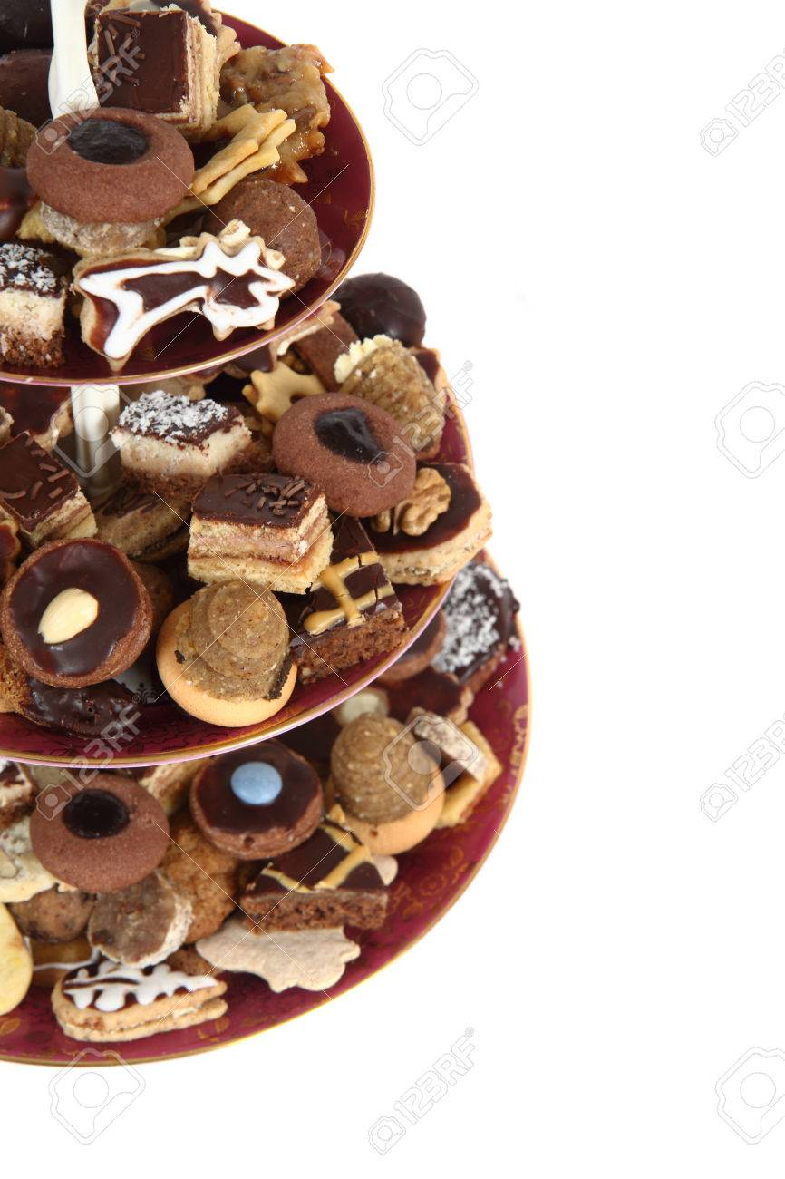 Traditional Czech Christmas Cookies Isolated On The White Background