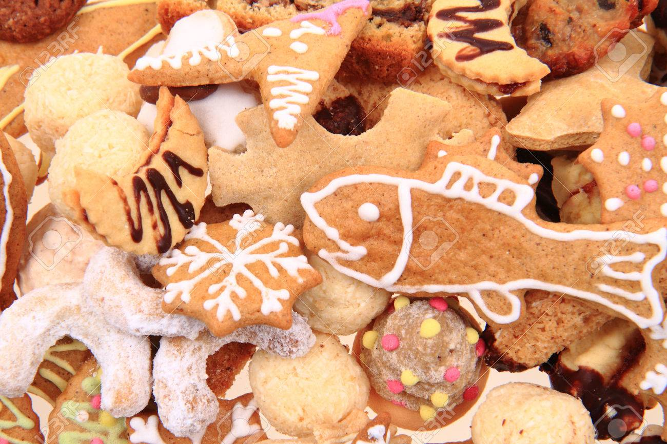 Traditional Czech Christmas Cookies As Nice Background