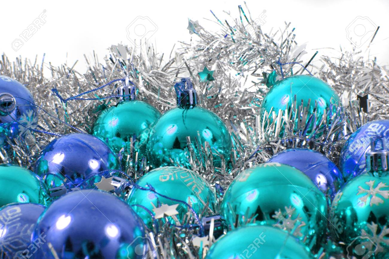 Christmas Balls As Nice Xmas Decoration Isolated On The White ...