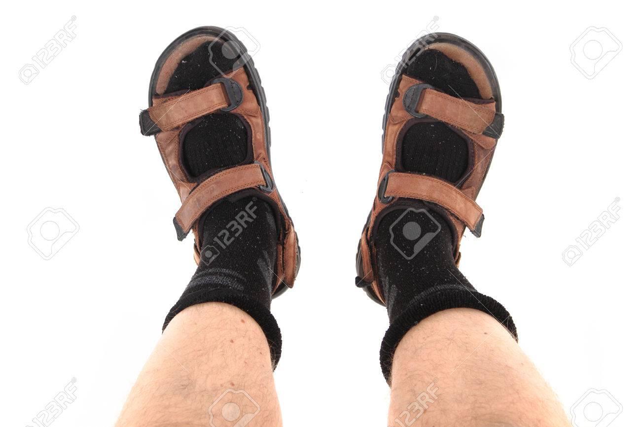 30e7966164f socks and sandals as czech tourist fashion and symbol Stock Photo - 65034722