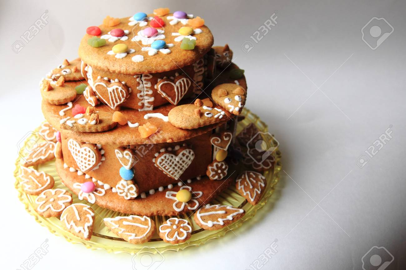Fabulous Gourmet Birthday Gingerbread Cake With Small Mouses Stock Photo Funny Birthday Cards Online Hetedamsfinfo