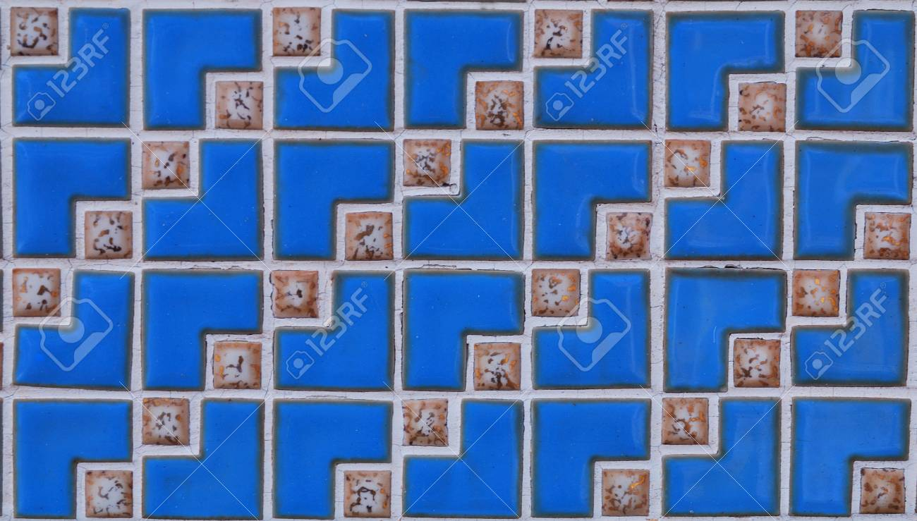 Artistic blue cubes background with style Stock Photo - 2160237