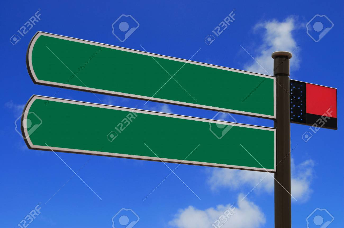 Isolated blank sign with space for text Stock Photo - 3324041