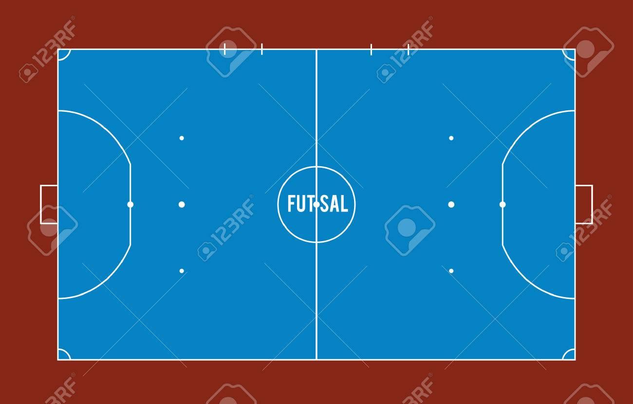 Futsal court or field top view vector illustration Stock Vector - 69244026 6e6cfa23593ea