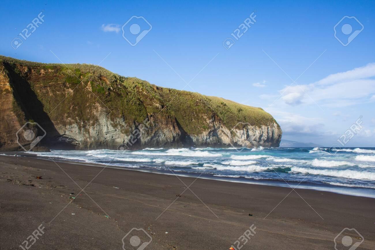 Areal De Santa Barbara A Pretty Black Sand Beach On The North