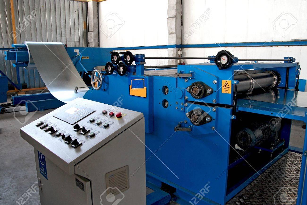 corrugated sheet forming machine Stock Photo - 20778240