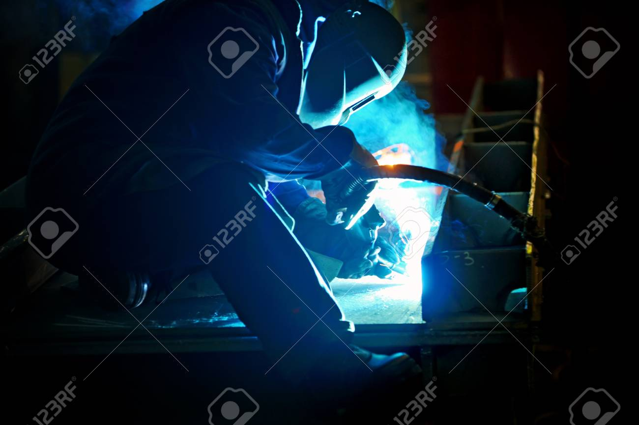 welding with mig-mag method Stock Photo - 16474283