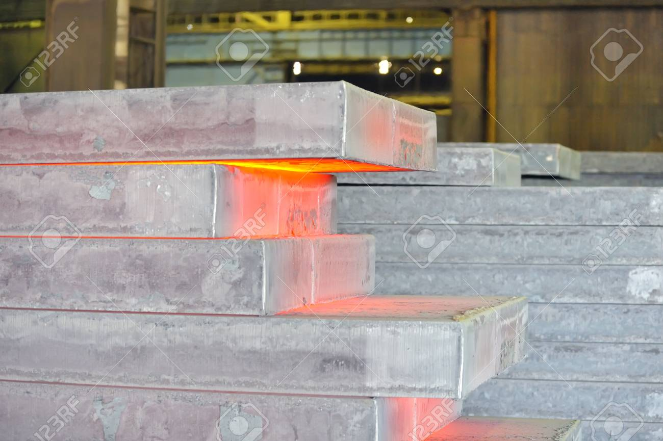 hot steel stack Stock Photo - 16477174