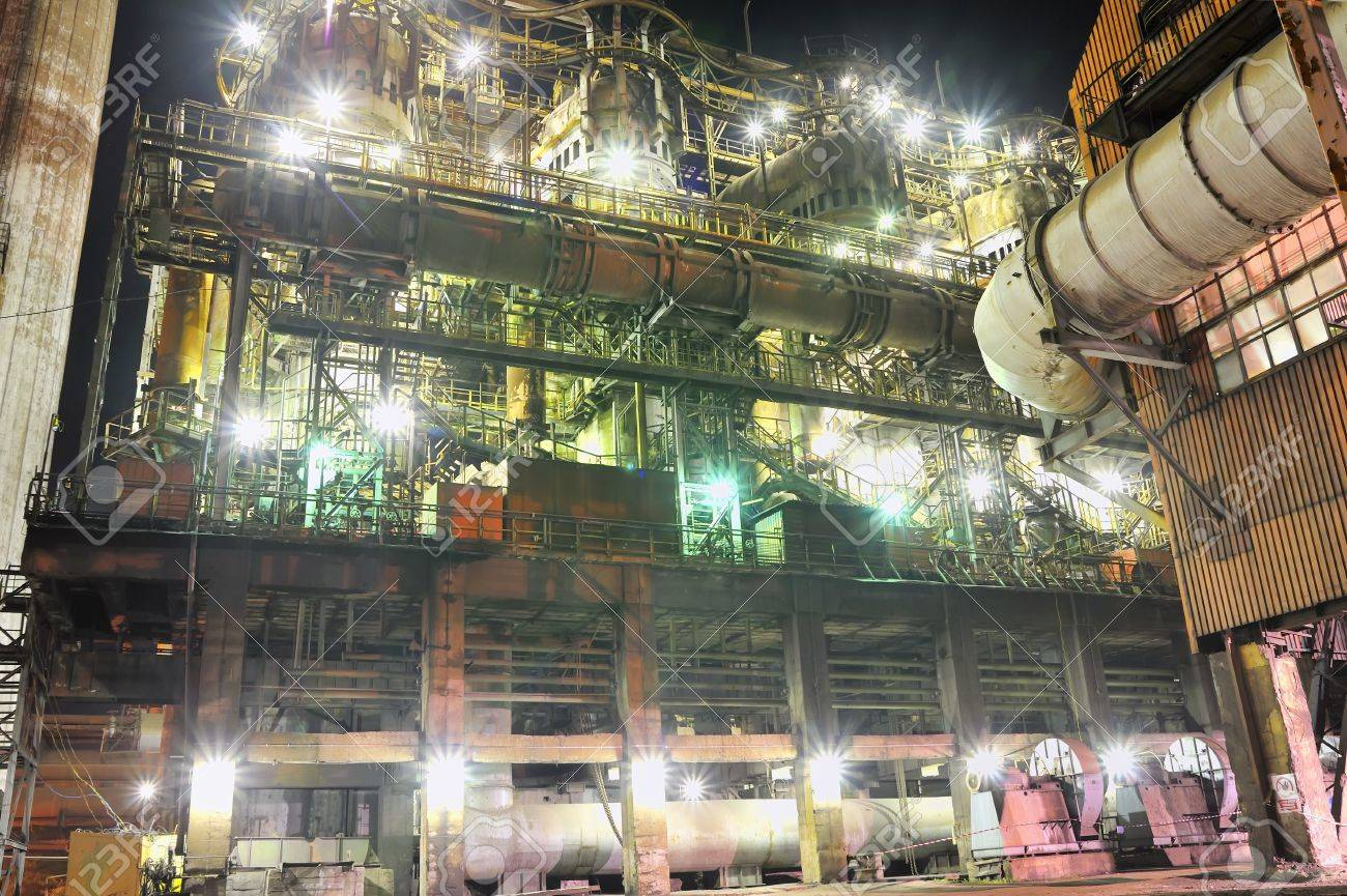 steel plant at night  Stock Photo - 16425363