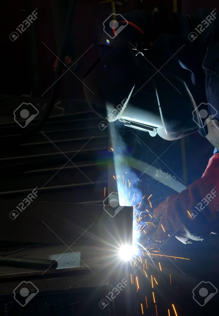 welding with mig-mag method Stock Photo - 16474585