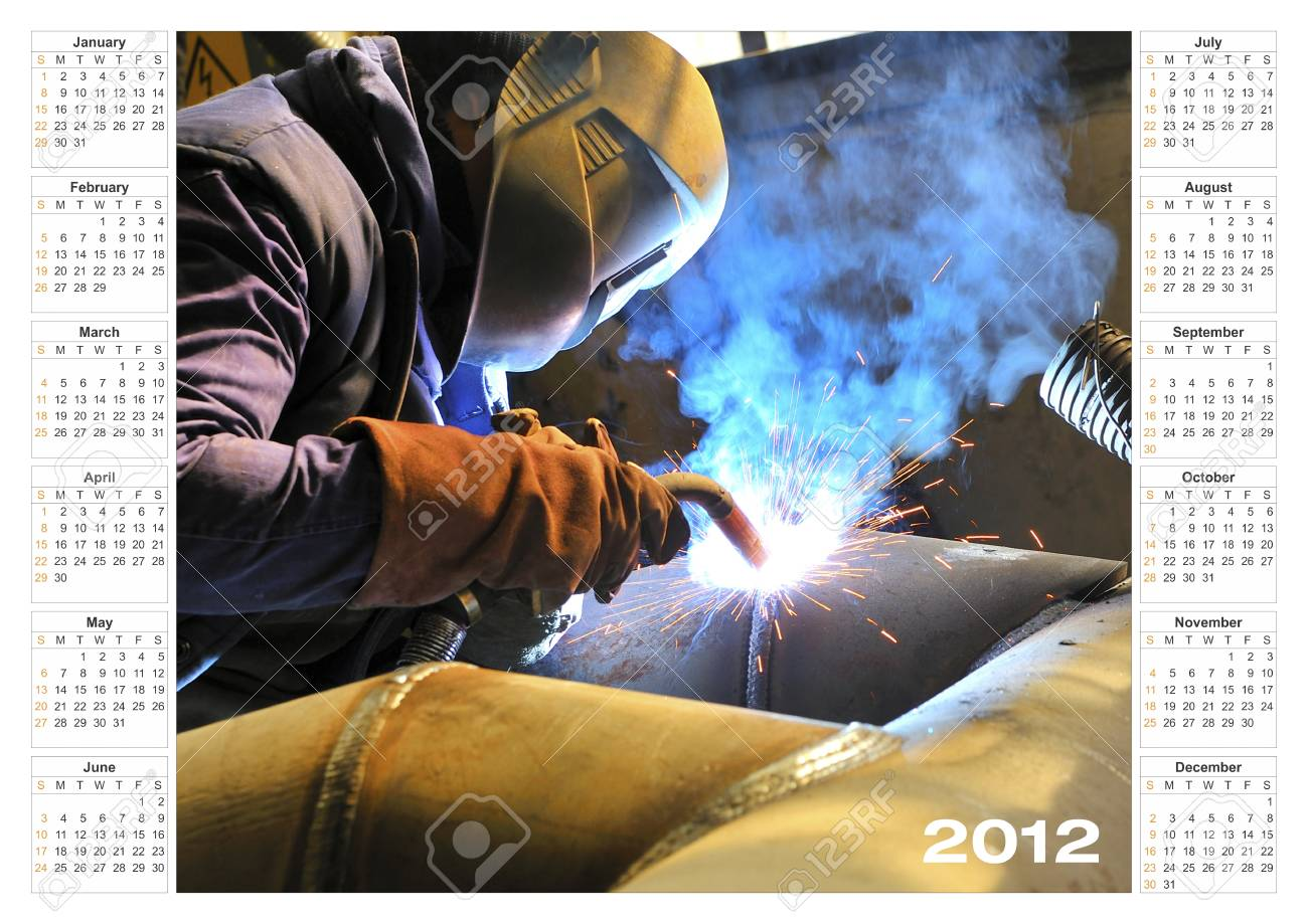 calendar 2012 Industrial Stock Photo - 16480048