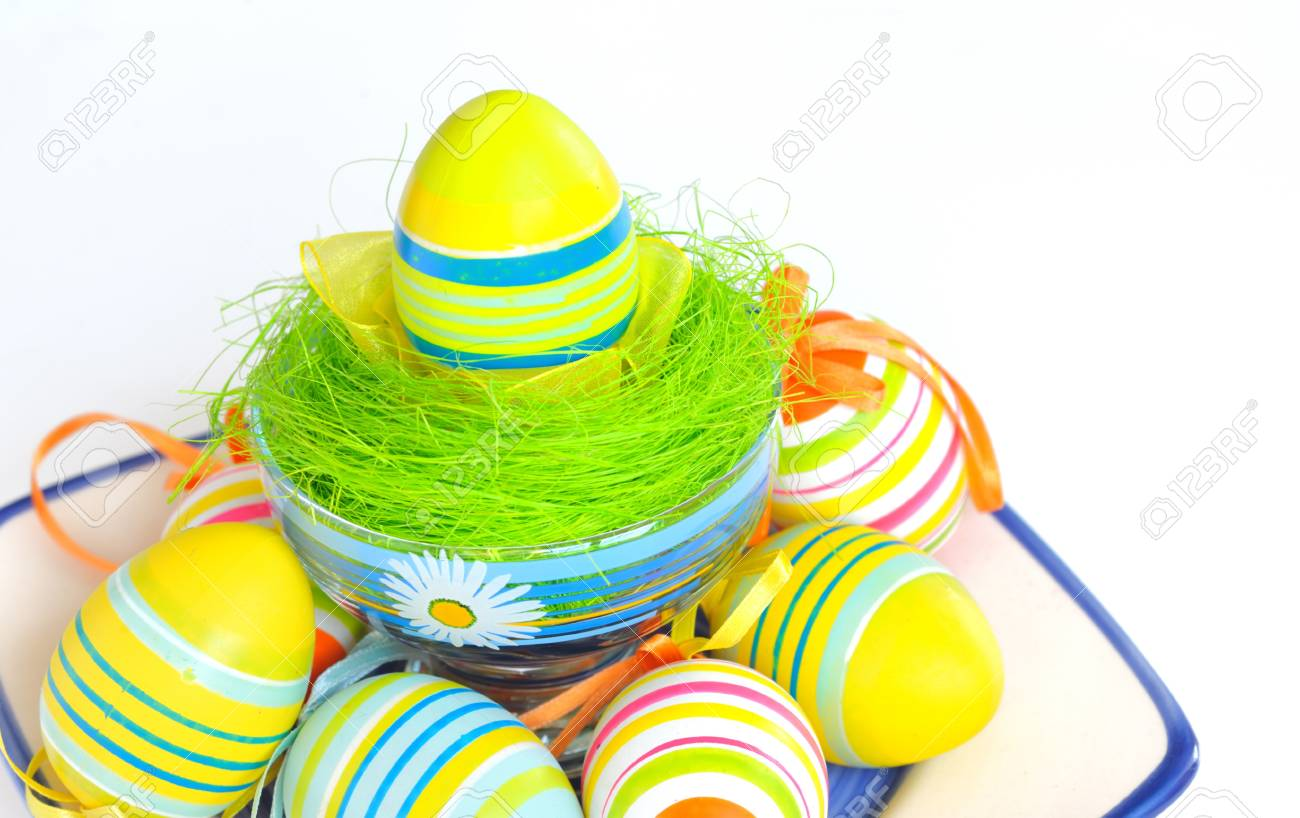 Painted Colorful Easter Eggs Stock Photo - 16483297