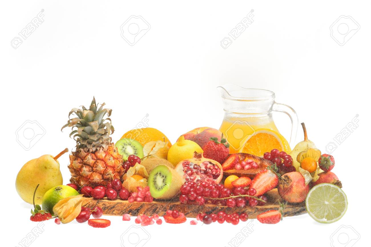 fresh fruits and orange juice Stock Photo - 16481269