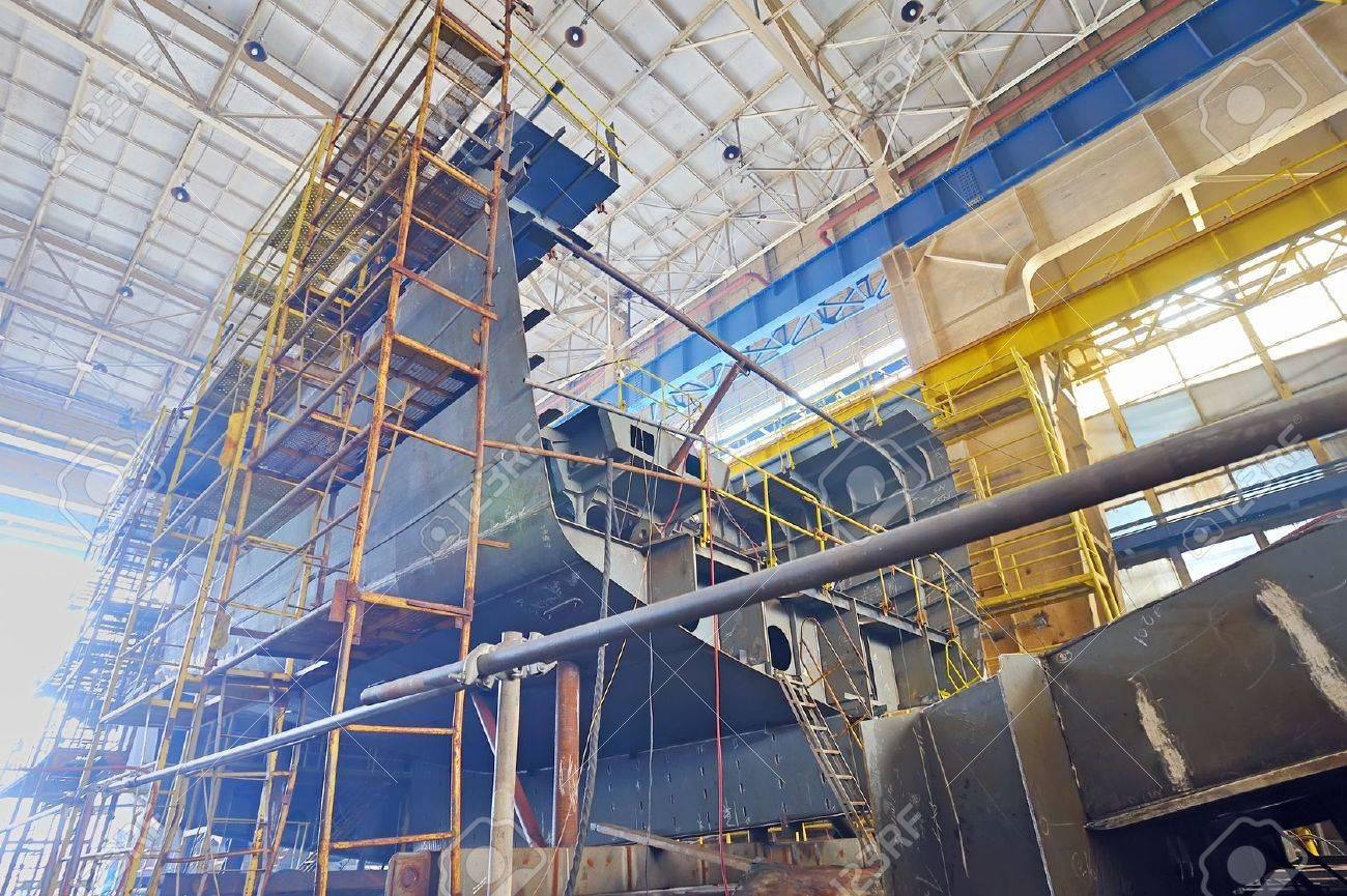 Ship building shoot  inside of shipyard Stock Photo - 18841905