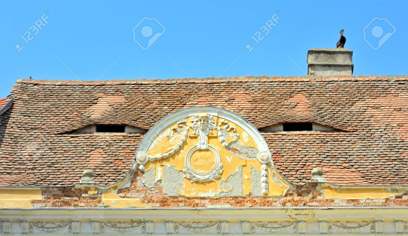 Old Roof with window like eyes Stock Photo - 21885673