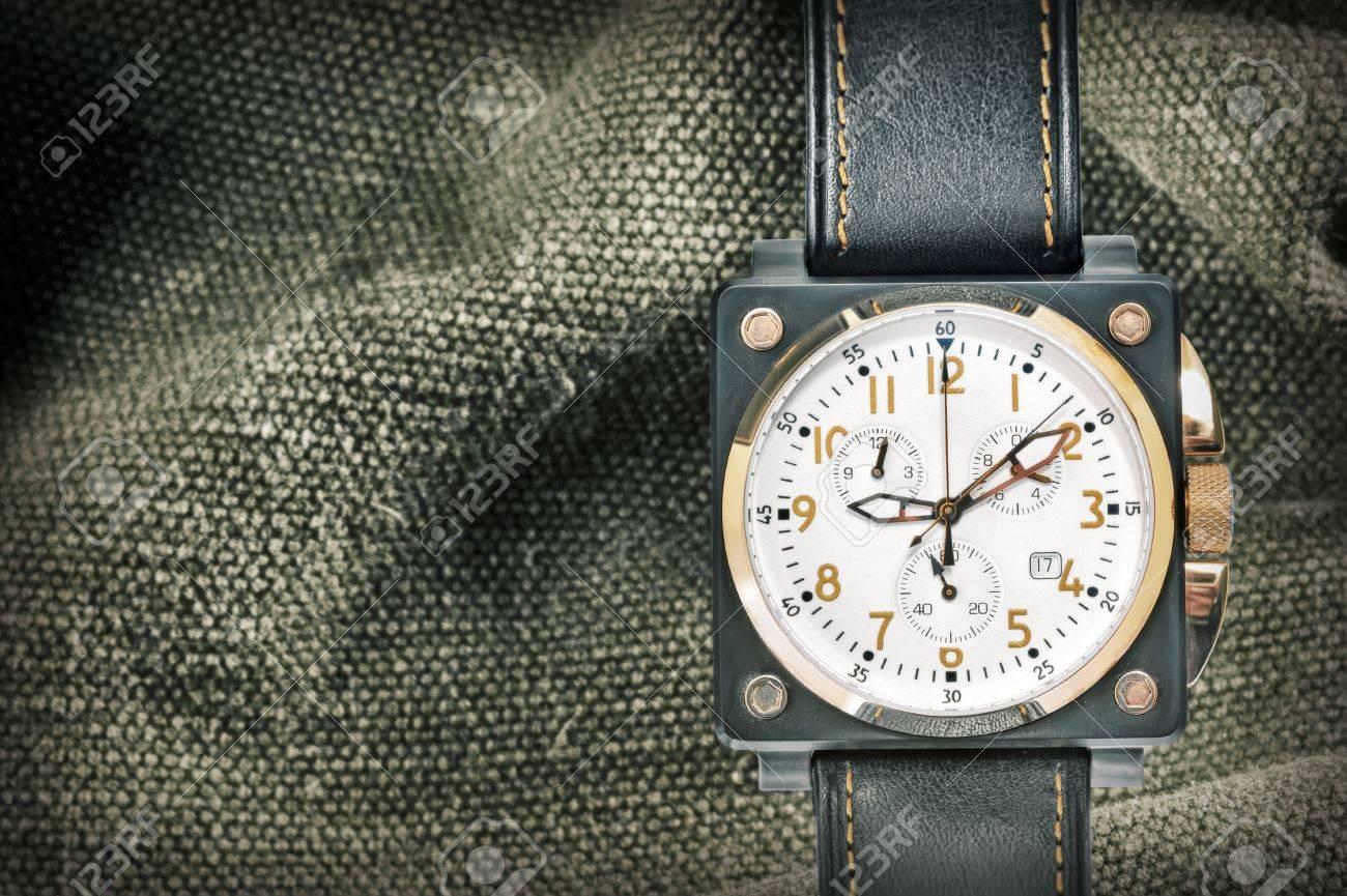 military airspeed watch shoot in studio Stock Photo - 22116440