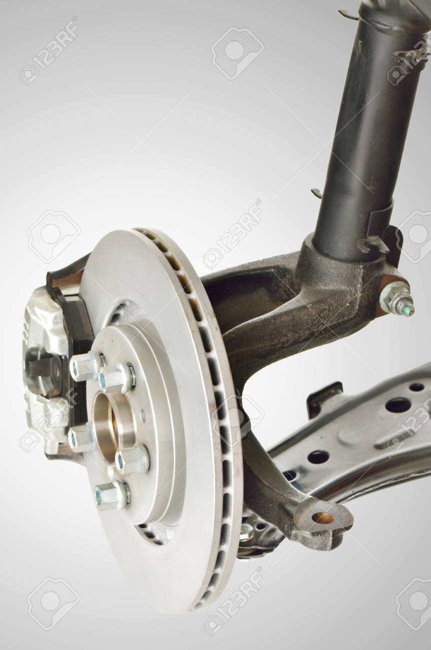 Disc Brake and Shock Assembly shoot in studio Stock Photo - 23812578