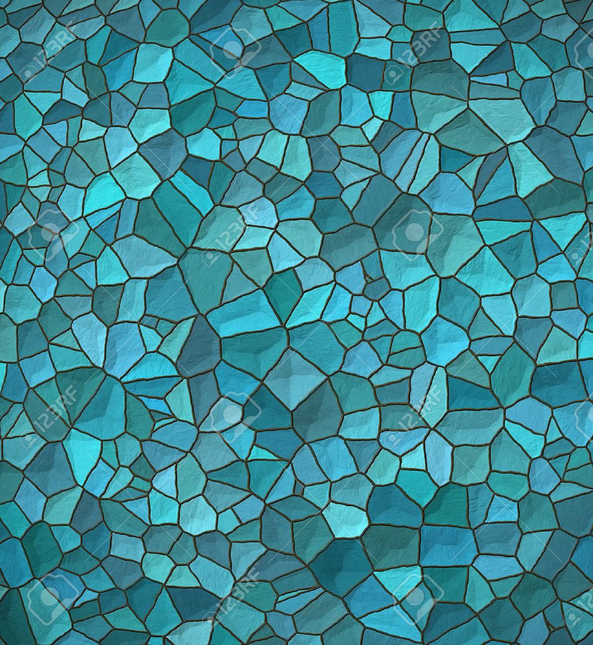Stock Photo   Stone Wall. Seamless Light Bricks Of Patterned Blue Stone
